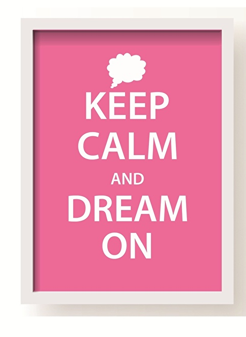 All About Wall Dream On Poster Pembe